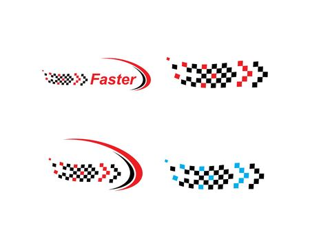 faster logo icon of automotive racing concept design template