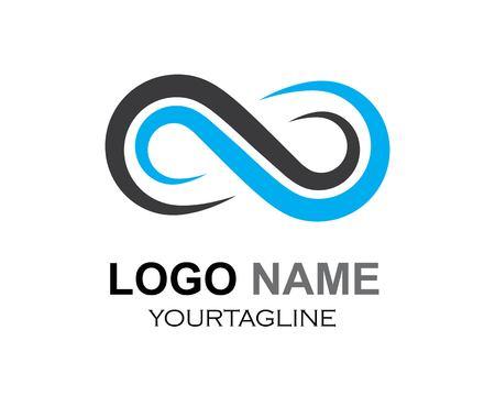 Conception d'infini, modèle d'icône de vecteur de logo d'infini Logo