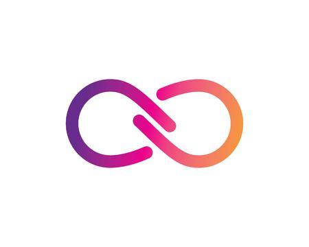 Conception d'infini, modèle d'icône de vecteur de logo d'infini