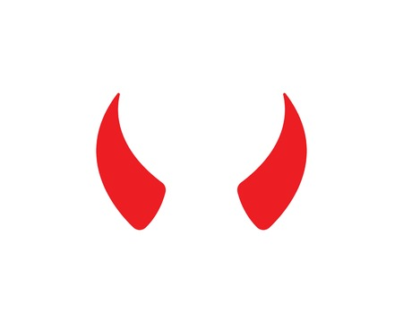 devil horn,animal horn logo icon vector template  イラスト・ベクター素材