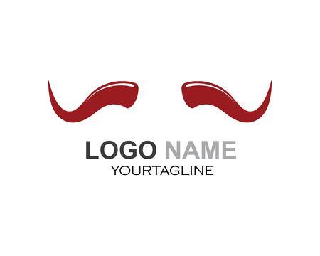 devil horn,animal horn logo icon vector template Ilustracja