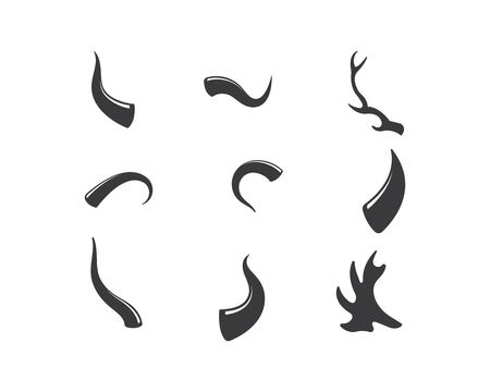 devil horn,animal horn logo icon vector template