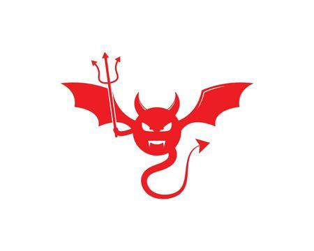 Devil logo vector template