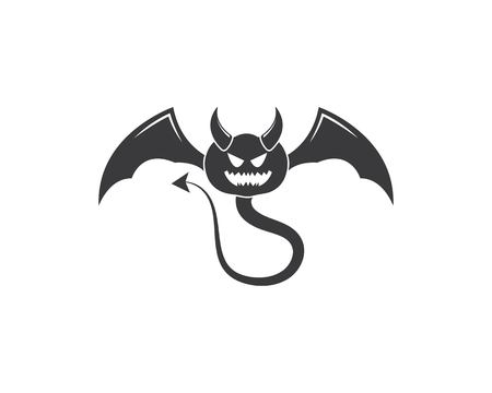 Devil logo vector template illustration design