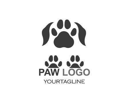 paw logo icon of pet vector template illustration Illustration
