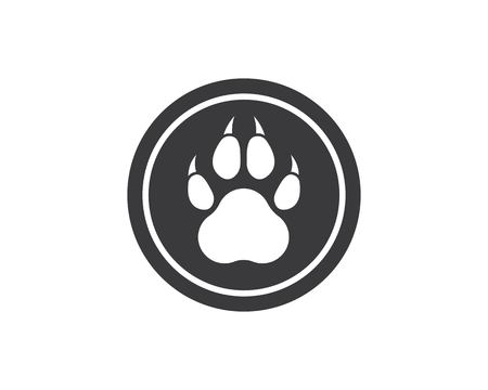 paw logo icon of pet vector template illustration