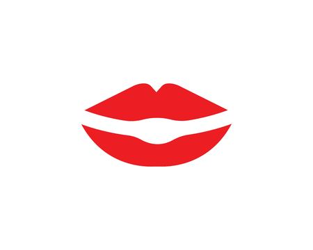 lips icon vector template design illustration