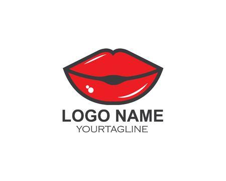lips icon vector template design  illustration 向量圖像