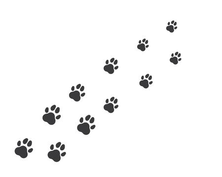 icône du logo de patte du modèle de vecteur pour animaux de compagnie
