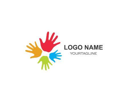 Icône de vecteur de soins des mains Logo Template Business Logo