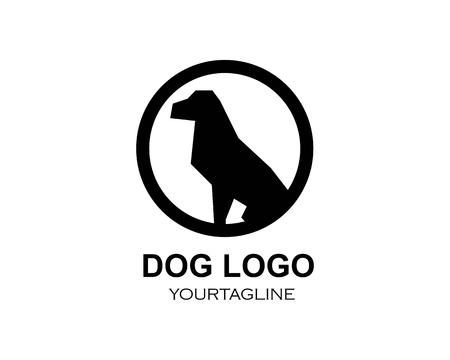dog logo icon vector template design Illustration