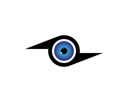 Eye icon Logo vector Template illustration design Illustration