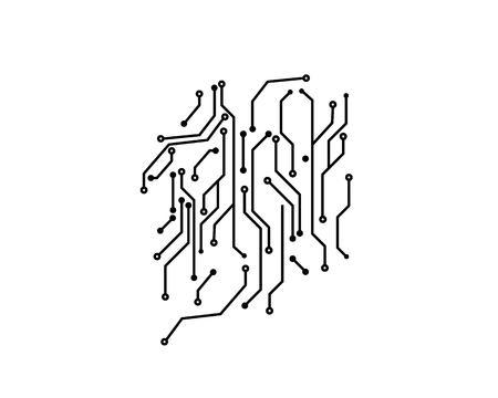 circuit board line concept design illustration template