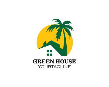 home resort logo vector illustration design