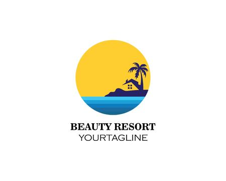 home resort logo vector illustration design