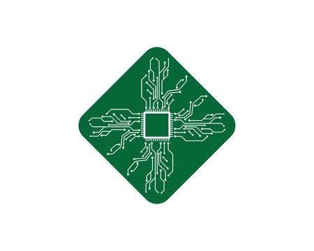 modèle d'illustration de conception de ligne de circuit imprimé