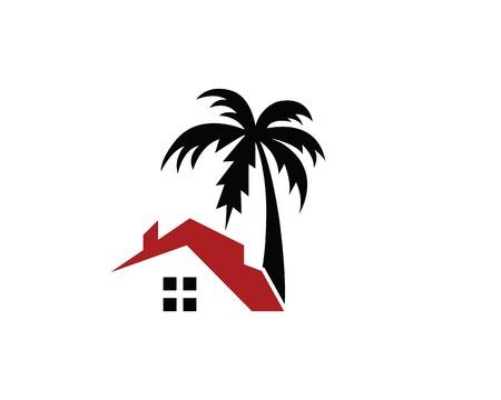 conception d'illustration vectorielle logo accueil resort