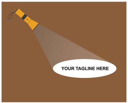 flashlight logo vector illustration template