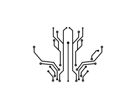 circuit board line concept design illustration template