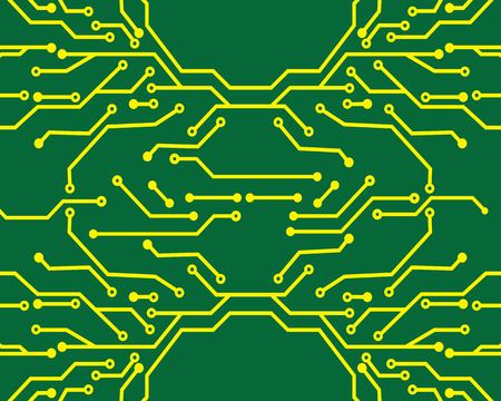 circuit board line background concept design illustration template