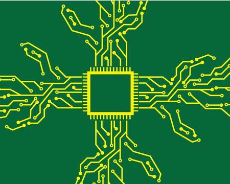 circuit board line background concept design illustration template Ilustração Vetorial