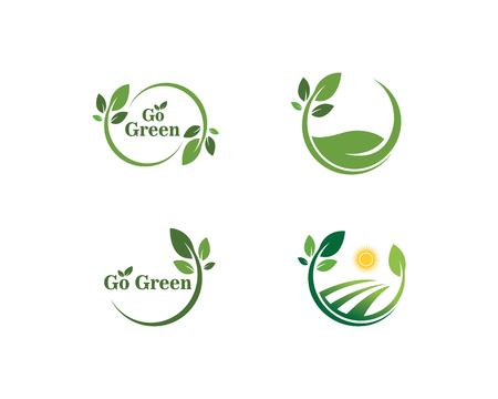 go green Logos of green leaf ecologia nature element vector icon