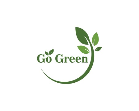 go green Logos of green leaf ecology nature element vector icon