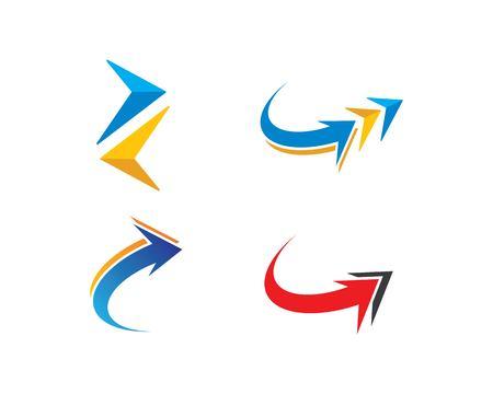 Arrow icon set vector illustration Logo Template design Иллюстрация