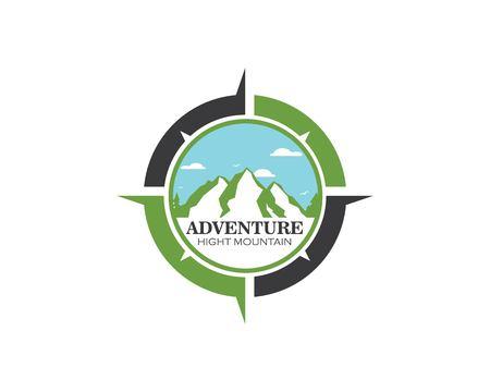 Icône de haute montagne Logo Template vecteur