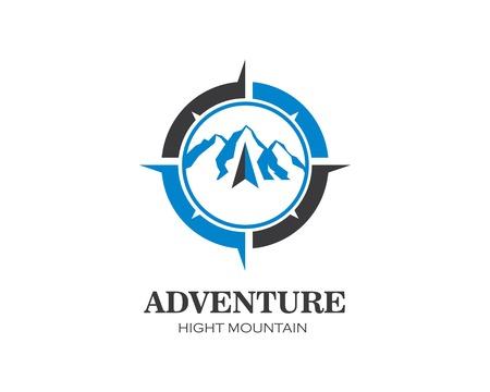Icona di alta montagna Logo Template Vector