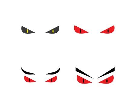 devil Eye icon Logo vector Template illustration