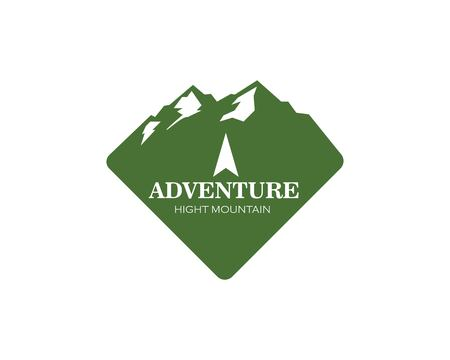 High Mountain icon Logo of adventure  Template Vector