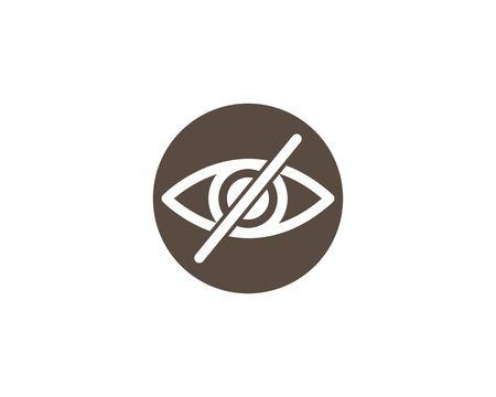Eye icon Logo vector Template illustration