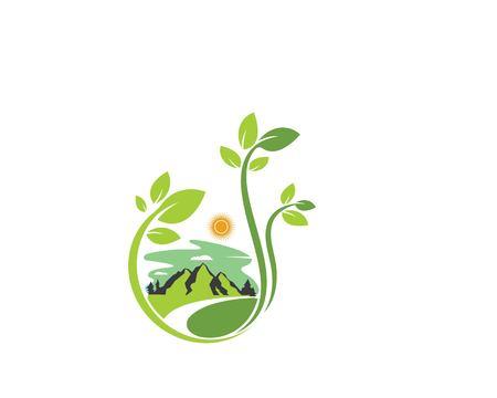 landscape logo vector illustration template Stock Illustratie