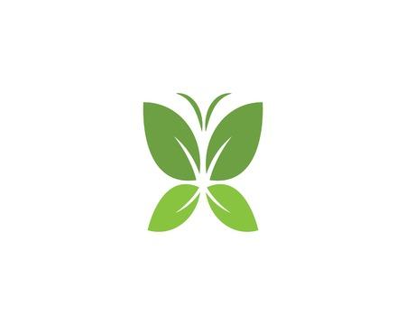 butterfly logo vector template design Ilustracja