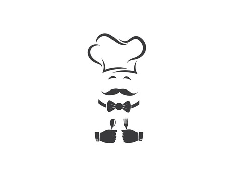 hat chef logo template vector illustration Stock fotó - 120621330