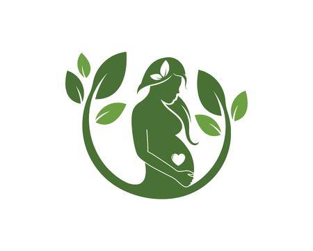 modèle d'icône de vecteur de femmes enceintes de beauté