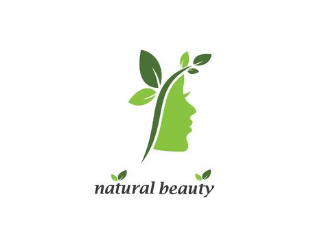 natural beauty woman vector illustration template design