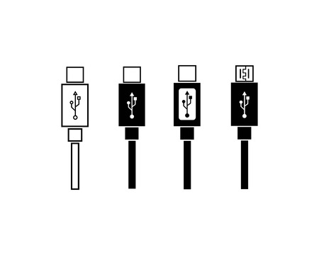 usb icon vector illustration template Векторная Иллюстрация