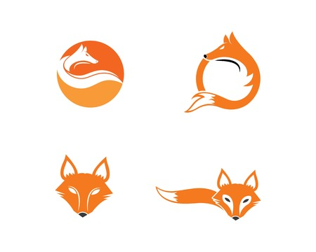 fox logo icon vector template design