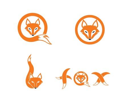 disegno del modello di vettore dell'icona del logo della volpe Logo