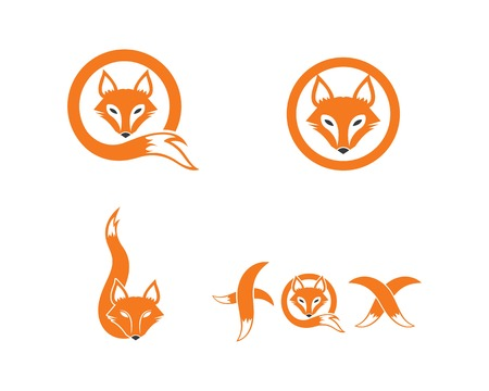 Fuchs Logo Symbol Vektor Vorlagendesign Logo