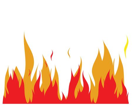 Fire flame Logo Template illustration design