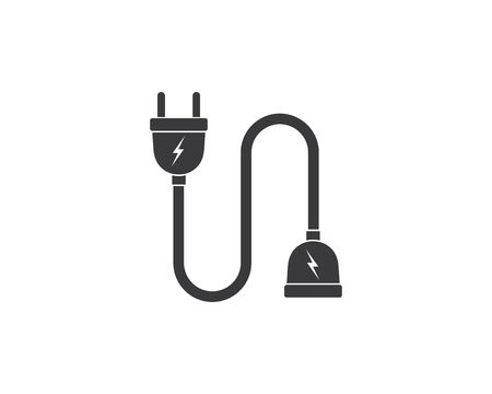 electric socket plug vector,illustration template