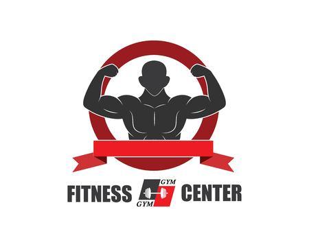 gym,fitness icon logo illustration  template vector for bodybuilder