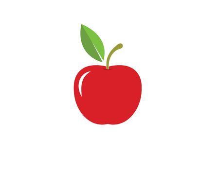 Modello di illustrazione vettoriale di mela