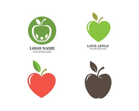 Apple vector illustration template Vetores