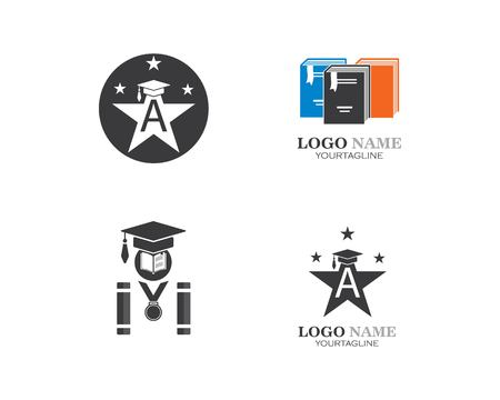 book,paper,document logo,icon of education Template vector illustration design