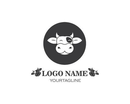 cow logo vector illustration template design Çizim