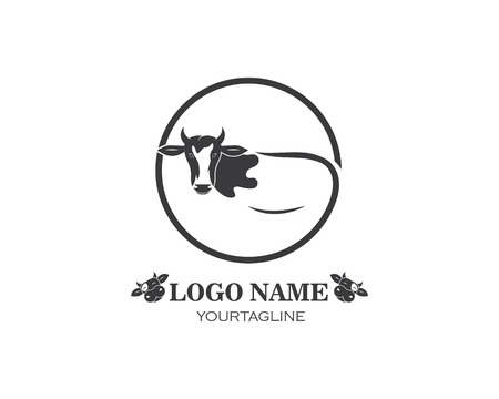 cow logo vector illustration template design 矢量图像
